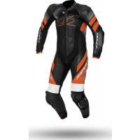 Spyke ESTORIL RACE leather full suit Black White Orange
