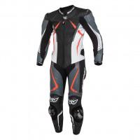 Full leather racing suit Berik LS1-191314 CE Certified Black White Gray