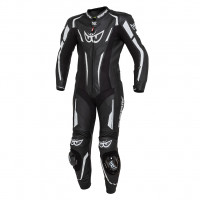 Berik LS1-191315 CE certified full racing leather suit Black Black White