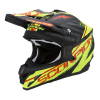 Casco cross Scorpion VX 15 EVO Air Gamma Nero opaco Giallo