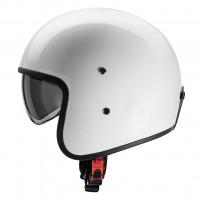 Carburo Urban Class fiber jet helmet White
