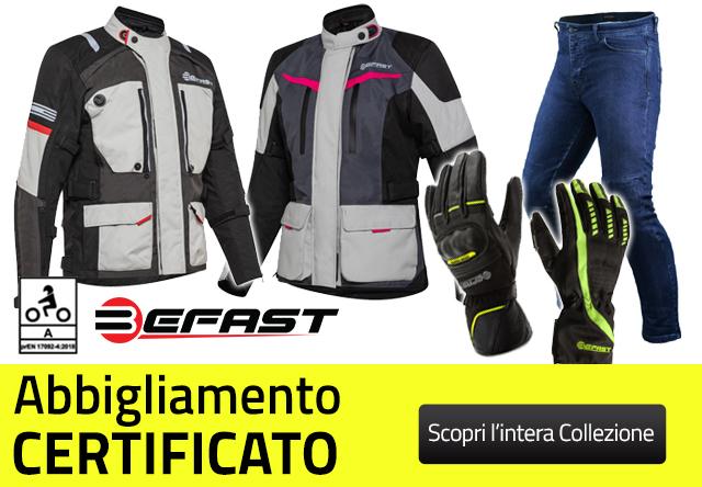 Abbigliamento Certificato Befast - Motoabbigliamento.it