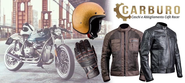 Abbigliamento e Caschi Cafè Racer Carburo - Motoabbigliamento.it