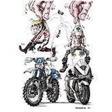 Il motociclista intercambiabile