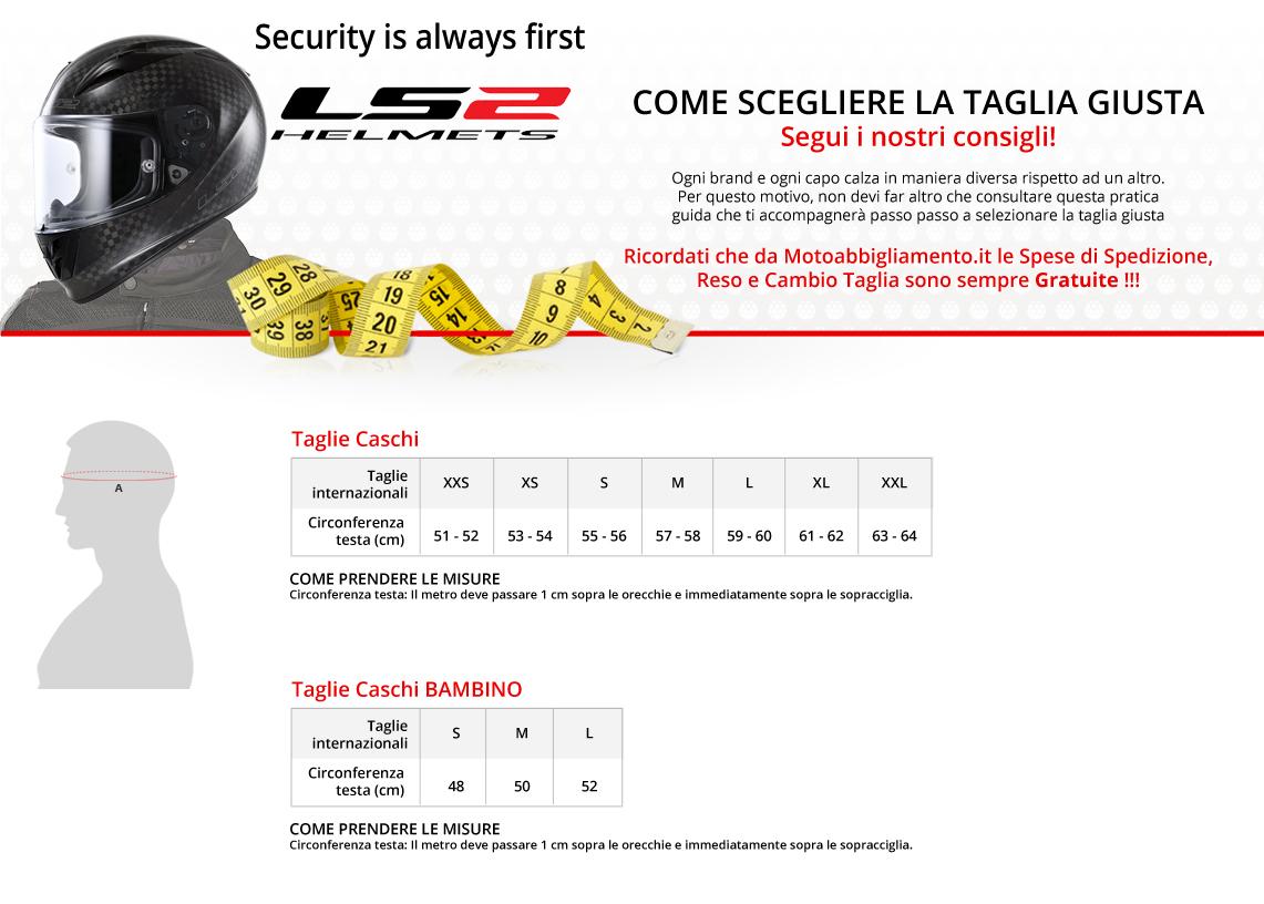 Tabella di comparazione taglie - LS2
